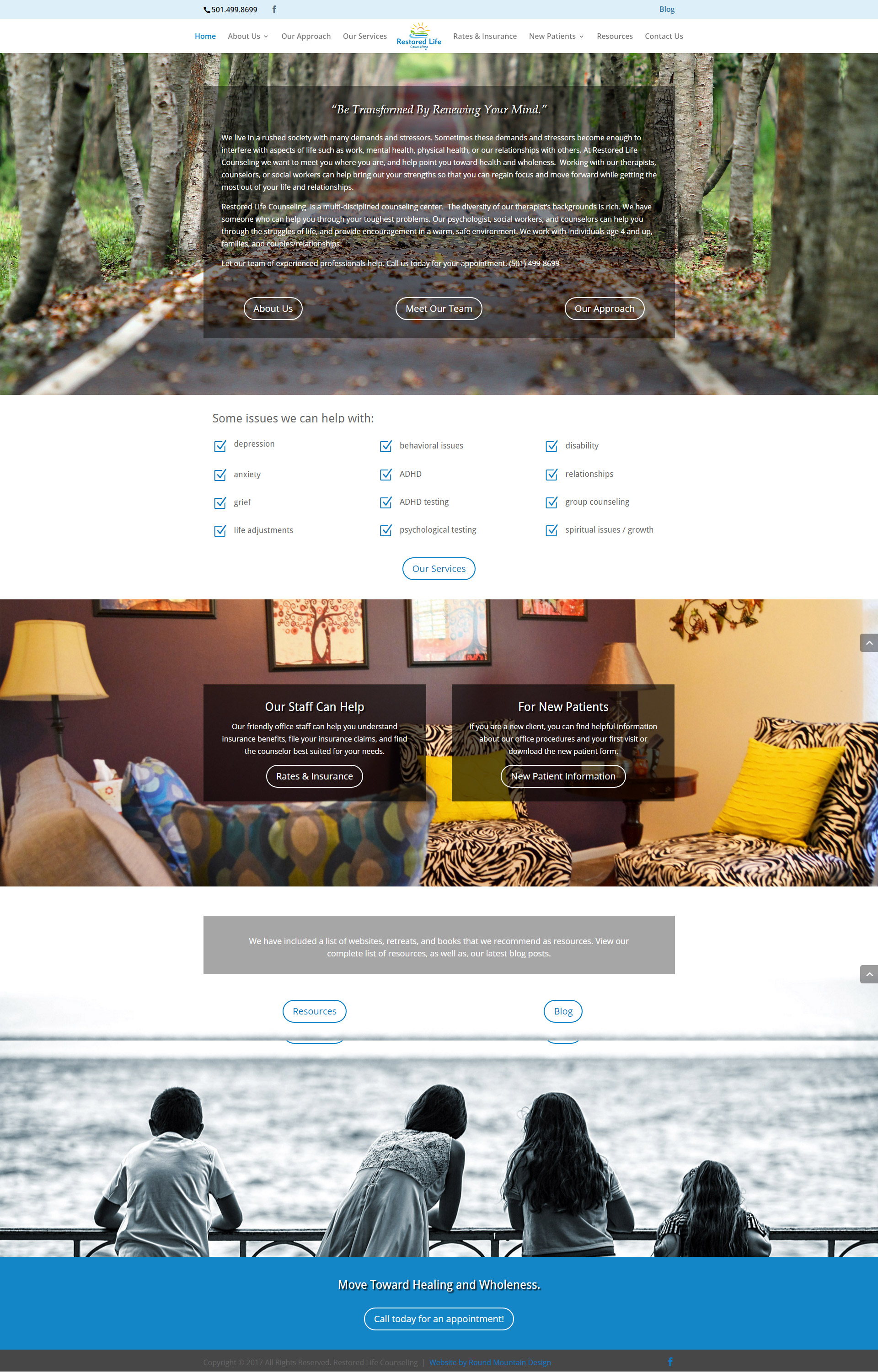 Restored LIfe Counseling Website Design