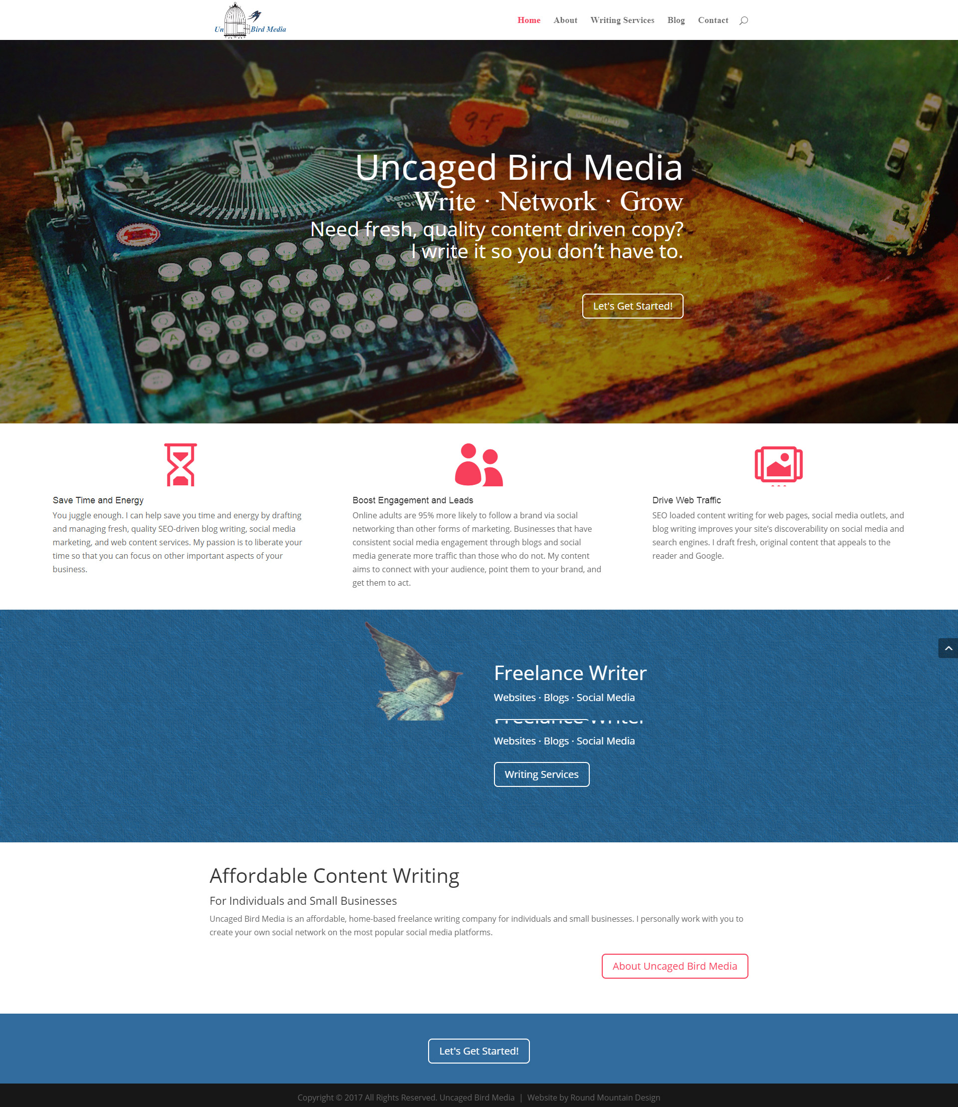 Uncaged Bird Media Website