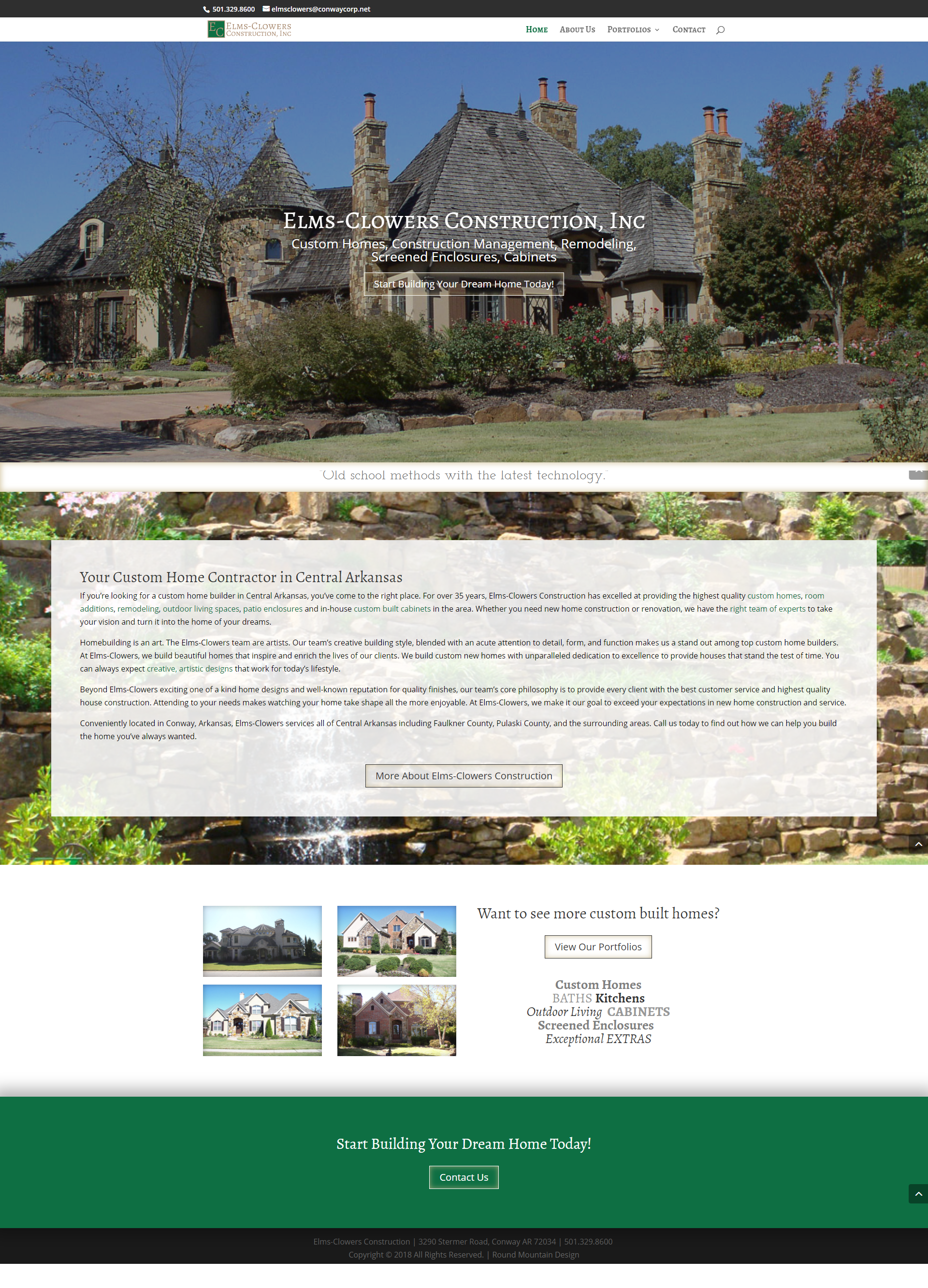 Elms-Clowers Constuction Website