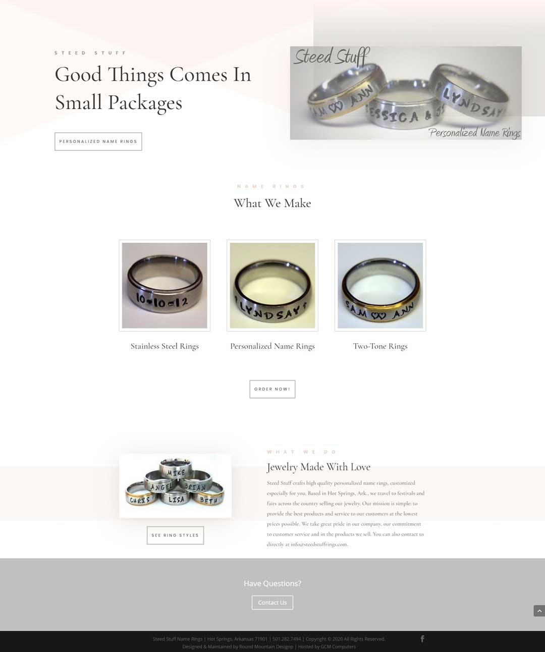 Steed Stuff Jewelry Website design