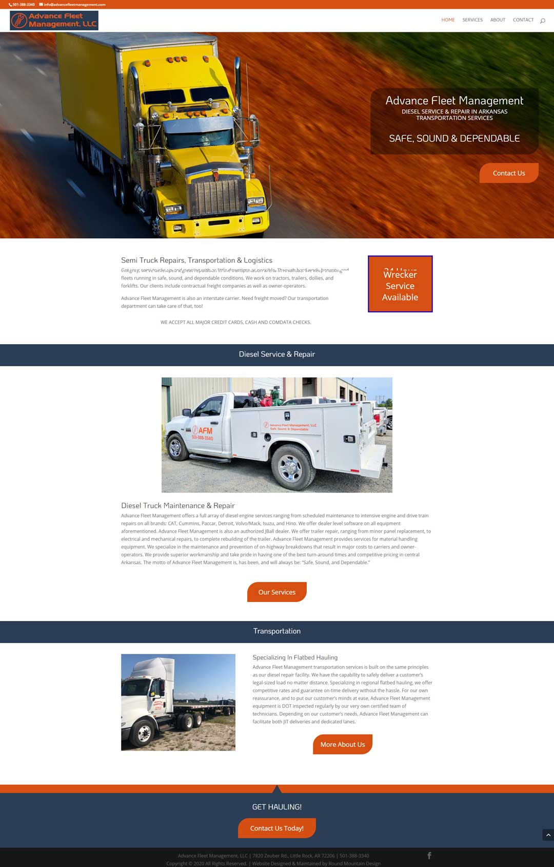 Website design for Advance Fleet Management