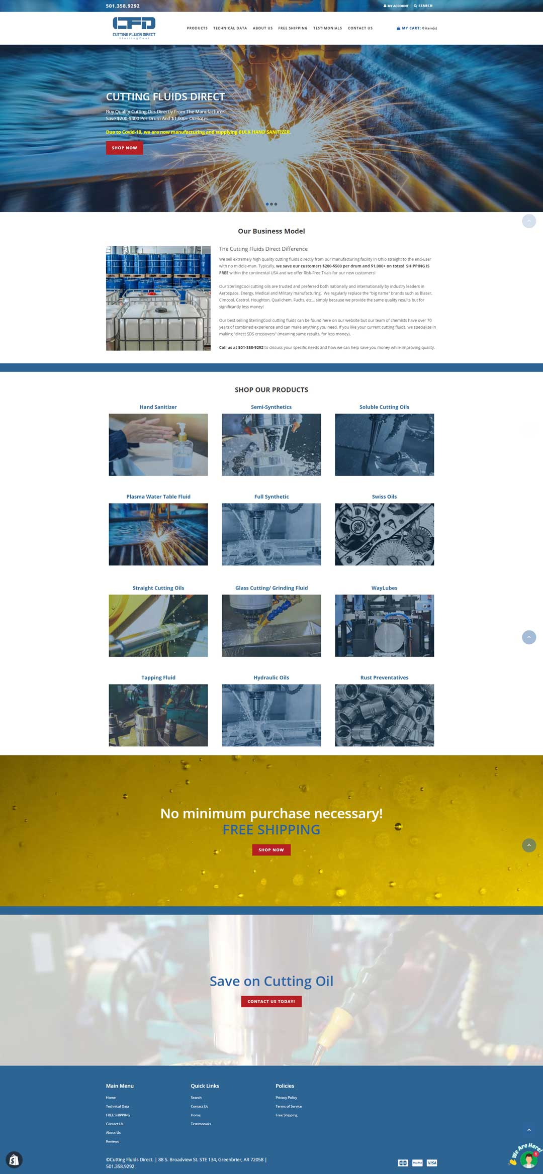 Website built for Cutting Fluids Direct
