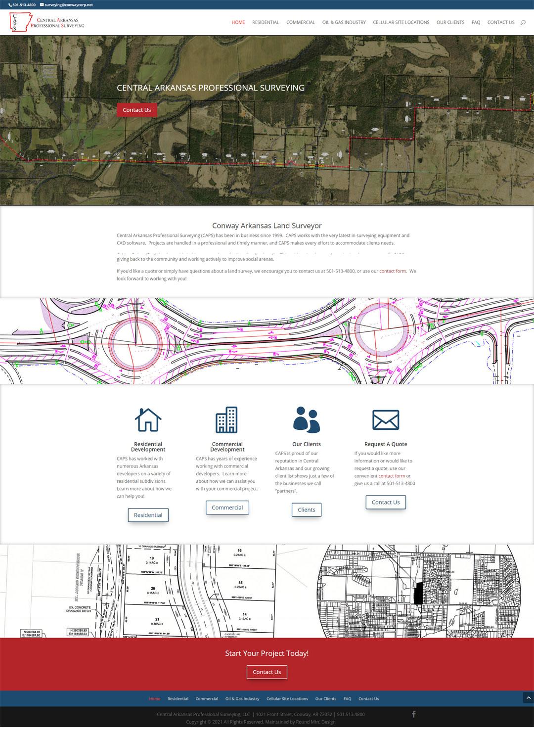Website Design For Central Arkansas Professional Surveying